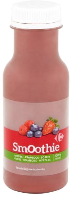 CARREFOUR Smoothie fraise framboise fruits des bois