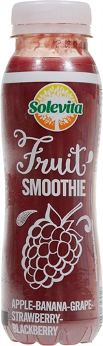 SOLEVITA (LIDL) Smoothie apple banana grapefruit strawberry blackberry